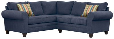 Saxon Sectional, Navy/Rainbow, swatch