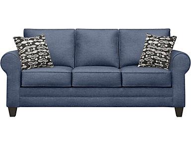 Saxon II Blue Sofa, , large