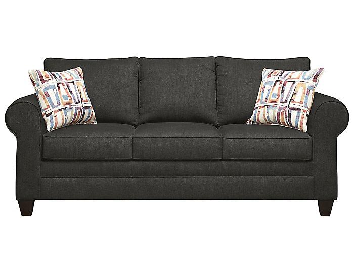 Saxon Sofa, Charcoal/Aloe, Grey, large