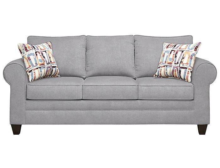Saxon Sofa, Grey/Moonstone, Grey, Large