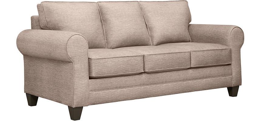 Saxon Ii Sand Sofa With Rawley Sandstone Pillows Large
