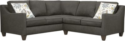 Farrah Sectional, Charcoal/Aloe, swatch