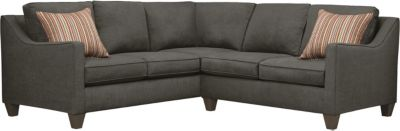 Farrah Sectional, Charcoal/Rose, swatch