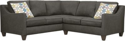 Farrah Sectional, Charcoal/Tidal, swatch