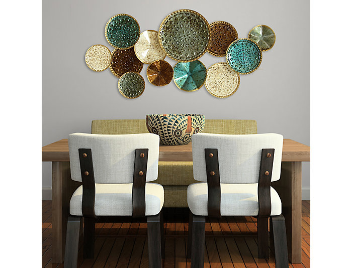 Multi Plates Wall Decor, , large
