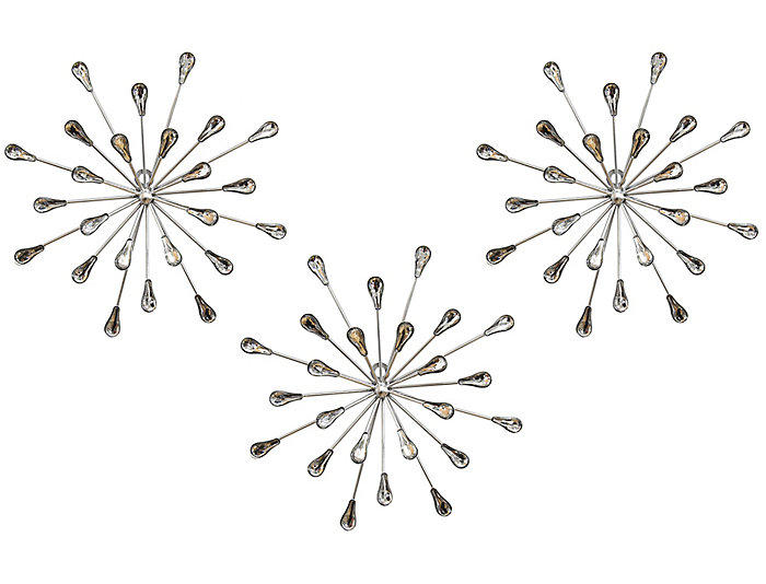 Burst Wall Decor (Set of 3) | Art Van Home