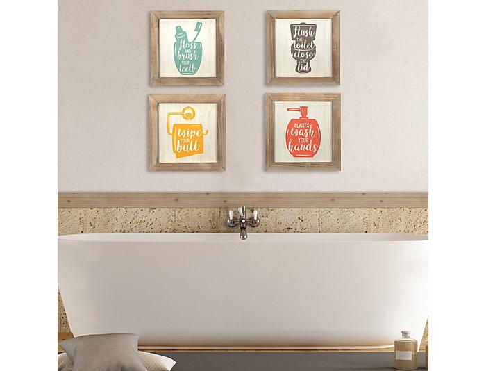 Bath Wall Art (Set 4), , large
