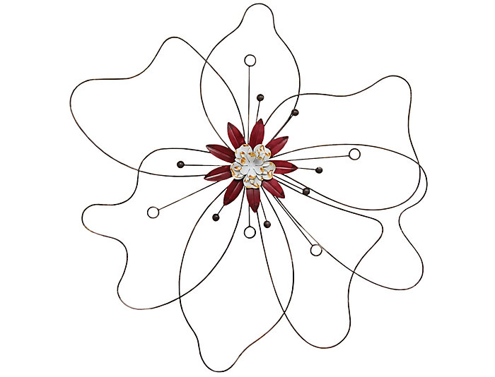 Outlined Flower Wall Art, , large