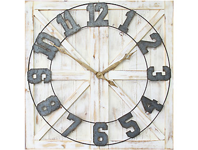 Lincoln Farmhouse Wall Clock, , large
