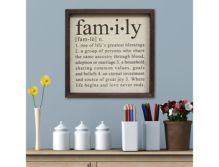 Family Definition Wall Decor, , large