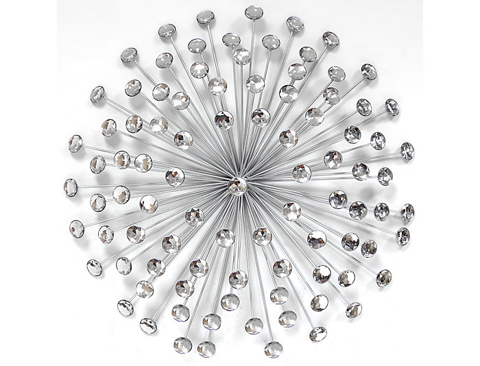 "24"" Silver Burst Wall Decor, , large"