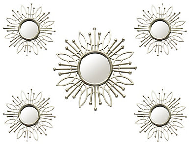 Champagne Burst Mirror (Set 5), , large