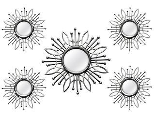 Silver Burst Mirror (Set 5), , large
