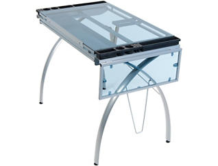 Nevada Silver Drafting Table, , large