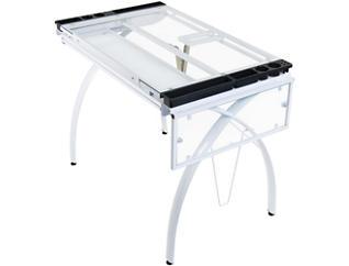 Nevada White Drafting Table, , large
