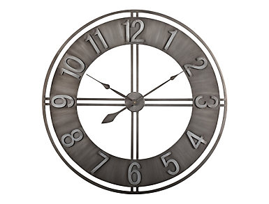"Irvin 30"" Smoke Wall Clock, , large"