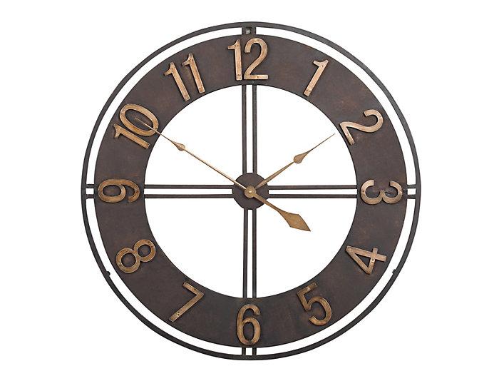 Large Irvin 30 Bronze Wall Clock