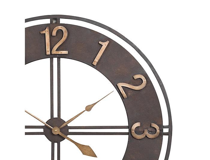 Irvin 30 Bronze Wall Clock