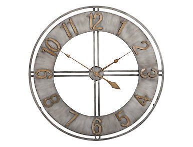 "Irvin 30"" Antiqued Wall Clock, , large"
