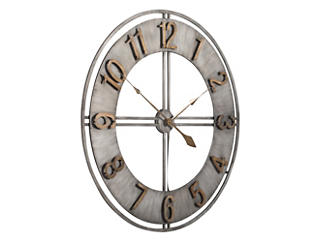 """Irvin 30"""" Antiqued Wall Clock, , large"""