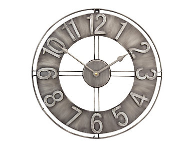 "Irvin 15"" Smoke Wall Clock, , large"
