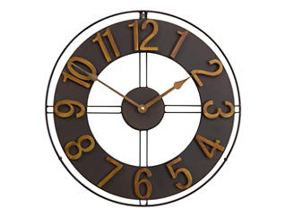 "Irvin 15"" Bronze Wall Clock, , large"
