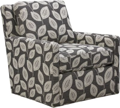 Willow Swivel Accent Chair, Grey, swatch