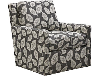 Willow Swivel Accent Chair, Grey, , large