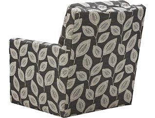 Willow Swivel Accent Chair, Grey, large
