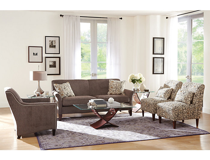 Elle III Accent Chair, Grey, Grey, large