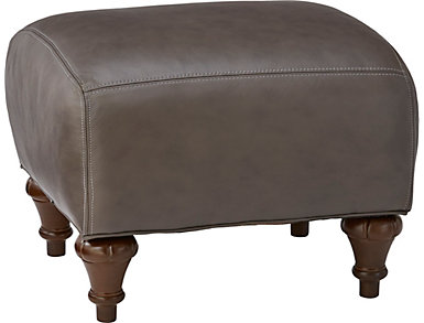 Topaz-IV Leather Accent Ottoman, , large