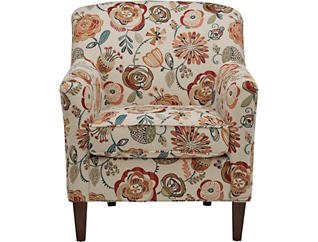 Chloe III Floral Accent Chair, , large