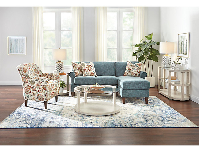 Chloe III Floral Accent Chair