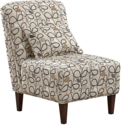 ... Elle III Armless Accent Chair, Taupe, Swatch