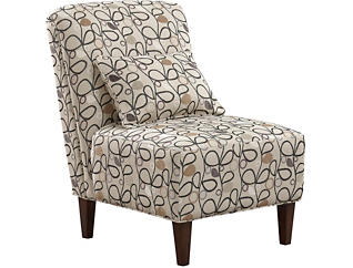 Elle III Armless Accent Chair, Taupe, large