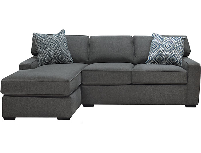 Diamond 2-Piece Left-Arm Facing Chaise Sectional, Charcoal, , large