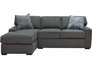 Theory 2 Piece Right-Arm Facing Chaise Leather Sectional