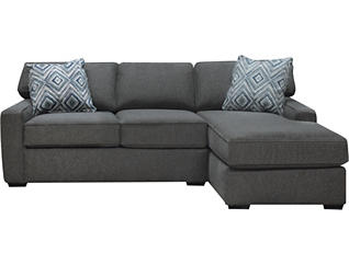 Diamond 2-Piece Right-Arm Facing Chaise Sectional, Charcoal, , large