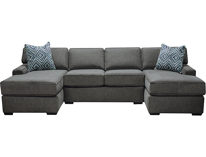 Marvelous Diamond 3 Piece Dual Chaise Sectional Andrewgaddart Wooden Chair Designs For Living Room Andrewgaddartcom