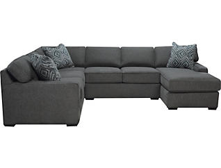 Diamond 3-Piece Right-Arm Facing Chaise Sectional, Charcoal, , large