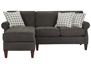 Chloe-II 2 Piece Left-Arm Facing Chaise Sectional, Charcoal, , large