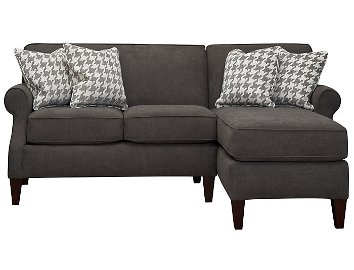 Chloe-II 2 Piece Right-Arm Facing Chaise Sectional, Charcoal, , large