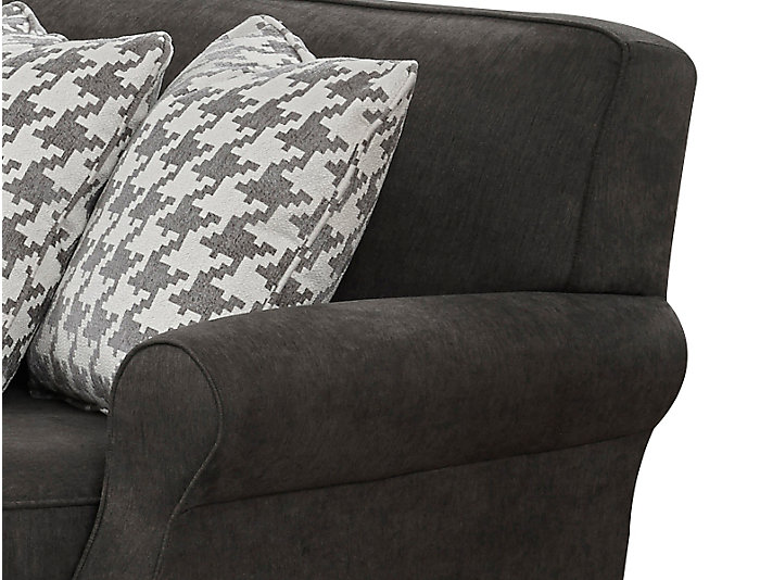 Chloe II 2-Piece Right-Arm Facing Loveseat Sectional, Charcoal, , large