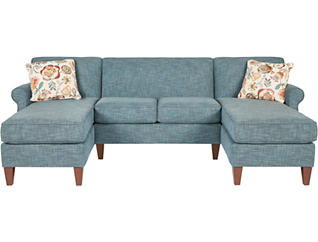 Chloe III 3 Piece Dual-Chaise Sectional, , large