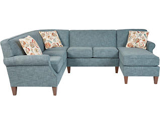 Chloe III 3 Piece Right-Arm Facing Chaise Sectional, , large