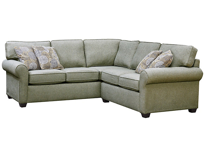 Serena III 2 Piece Left Arm Facing Corner Sofa Sectional, Brown, , Large ...