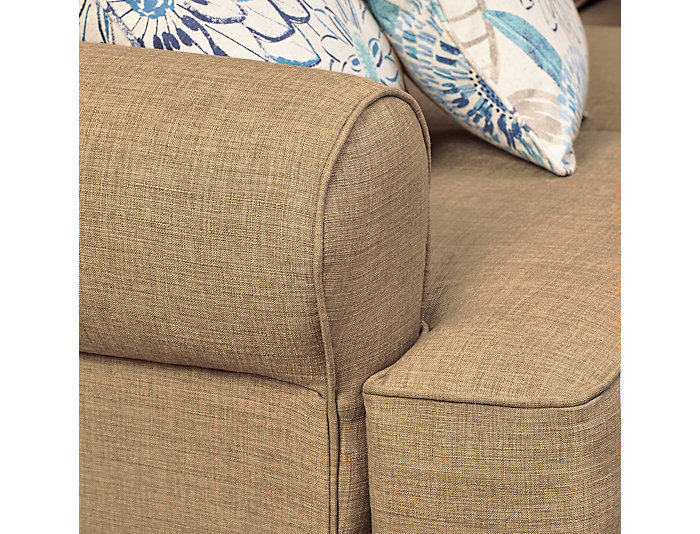 Larimar Right-Arm Facing Corner Sofa Sectional, Beige, , large