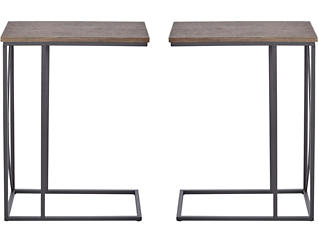 Faux-Wood Top Accent Table (Set of 2), , large