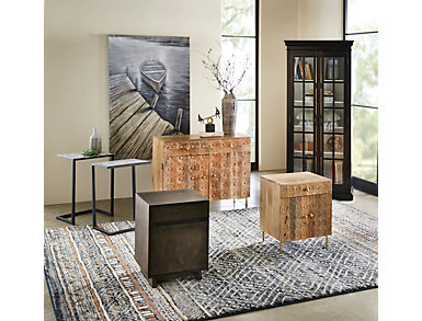 Glass Top Metal Accent Table, , large
