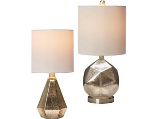 Mercury Glass Lamp Collection, , large